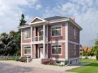 Проект стильного двухэтажного дома с цоколем
